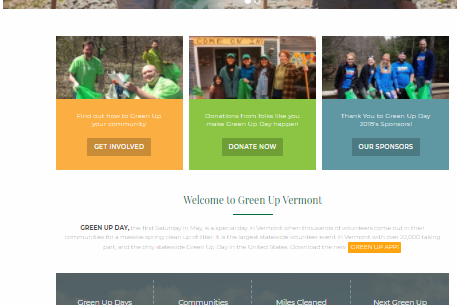 New Website for Green Up Vermont!
