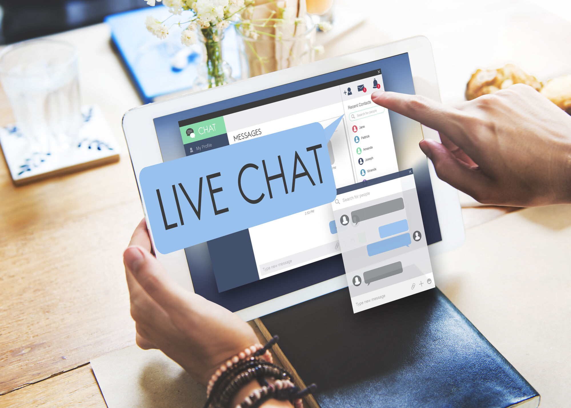 live chat on a laptop